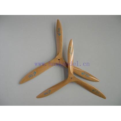 helice tripala madera 22x8