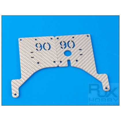 XT90-50003S 90T Gear Ratio Plate Silver (Left+Right)