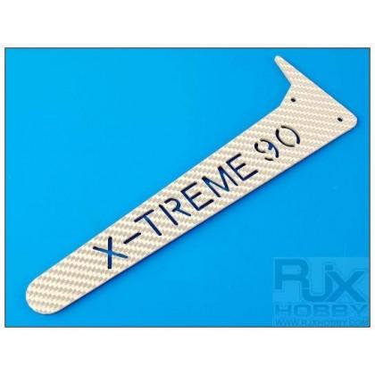 XT90-61118S B Vertical Fin (Silver) X-Treme