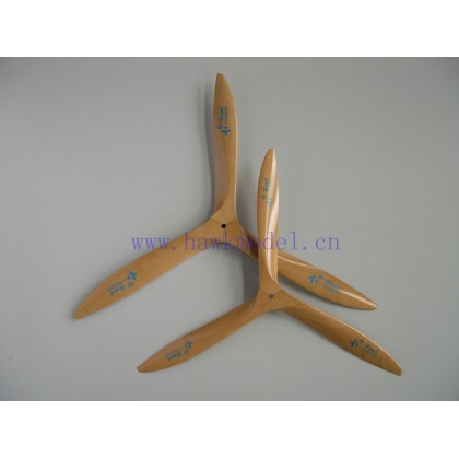 helice tripala madera 28x10