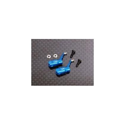 Metal Blade Grip w/ angular-contact bearings -Blue (MCPX)