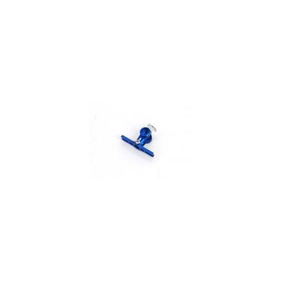 Metal Main Rotor Hub -Blue (MCPX)