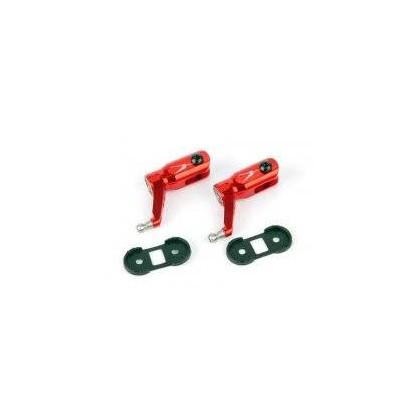 Alu. Main Blade Grip w/ Thrust Bearing (Red)