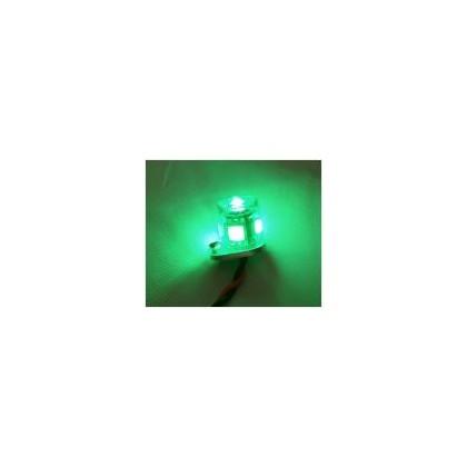 Luz redonda 1w 15mm verde