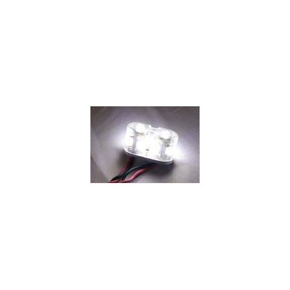 Luz redonda doble 2w 15mm blanca