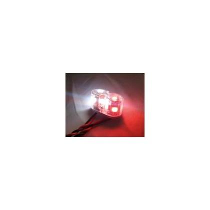 Luz redonda doble 2w 15mm blanca y roja