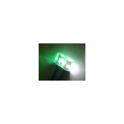 Luz redonda doble 2w 15mm blanca y verde