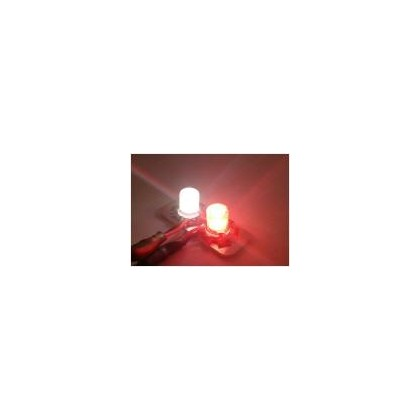Luz redonda 4w doble roja-blanca