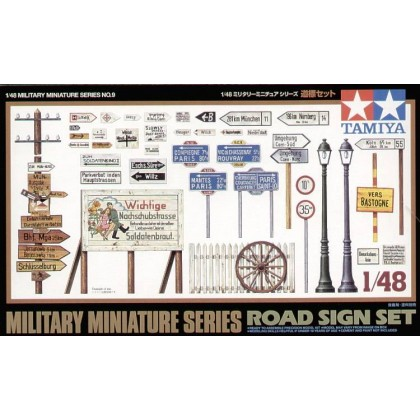 Road Sign Set 1:48 Military Model Kit