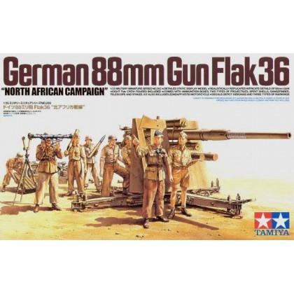 CAÑON ALEMAN FLAK 36 DE 88 mm.
