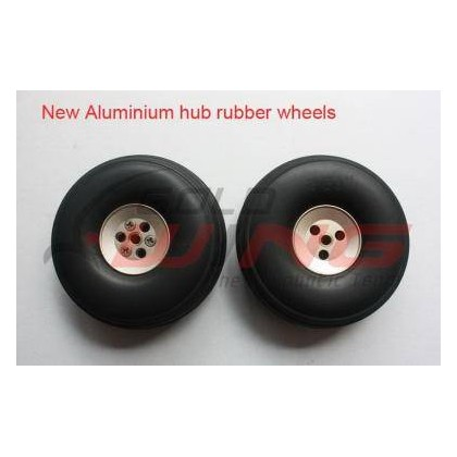 "Rueda cola con hub aluminio 1.5"""