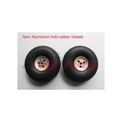 "Ruedas con hub aluminio 6"""