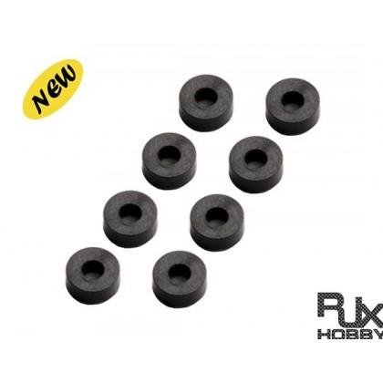 Nylon rubber 3x7x3 X8PCS