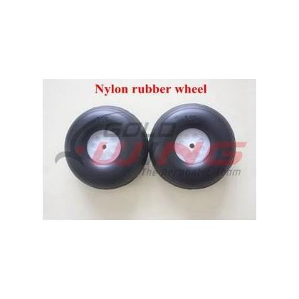 Rueda 3.5¨ hub Nylon