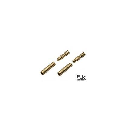 Conector oro 4mm 2 parejas