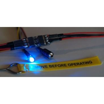 Interruptor de redundancia doble bateria con pin y bandera